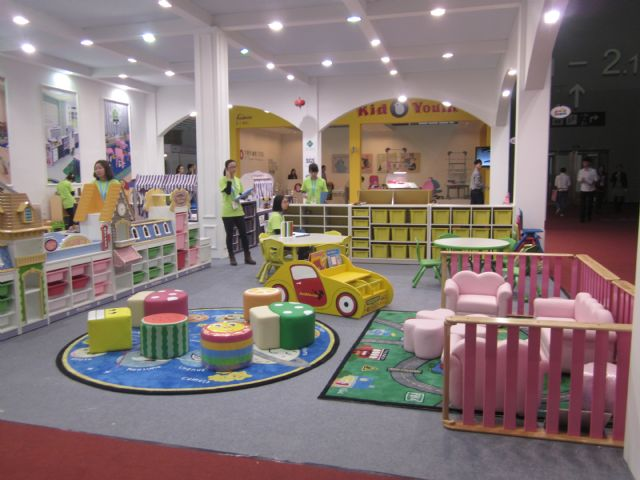 Variety and color are prime characteristics of children's furniture.