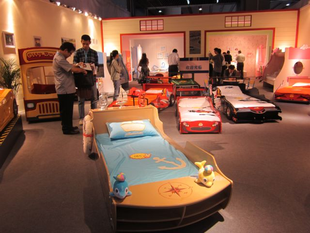Children's beds were a focus of attention at 2014 CIFF.