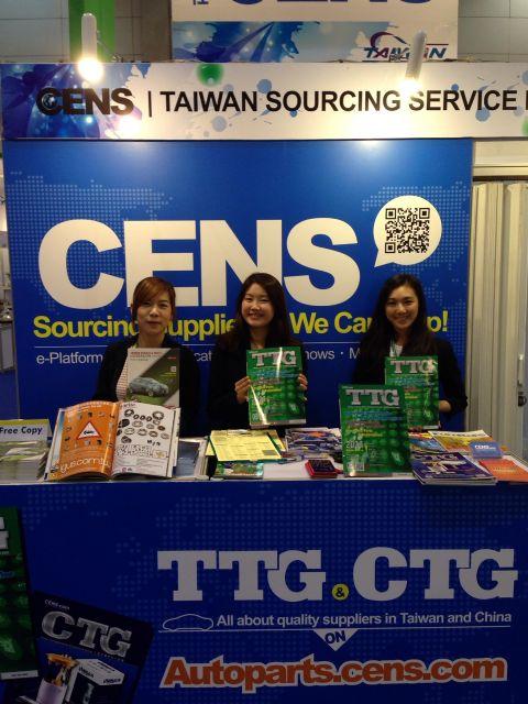 CENS representatives display CENS publications at TAPA.