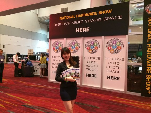 CENS representative displays CENS publications at National Hardware Show.