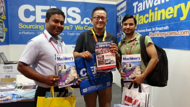 Visitors display CENS publications at Metaltech.