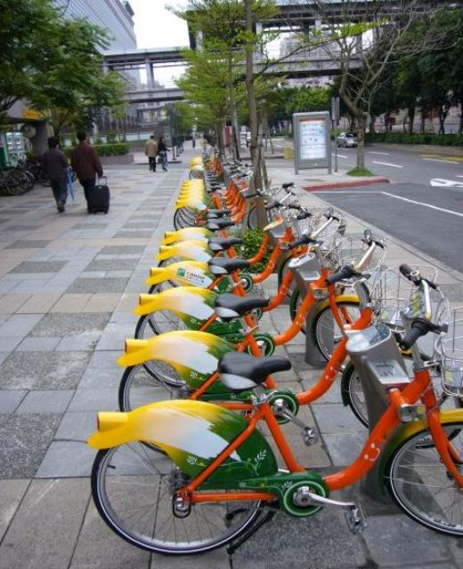 Taipei's YouBike system is the world's most popular public bicycle service.
