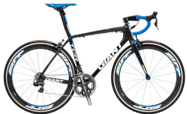 A high-end Giant brand racing bike