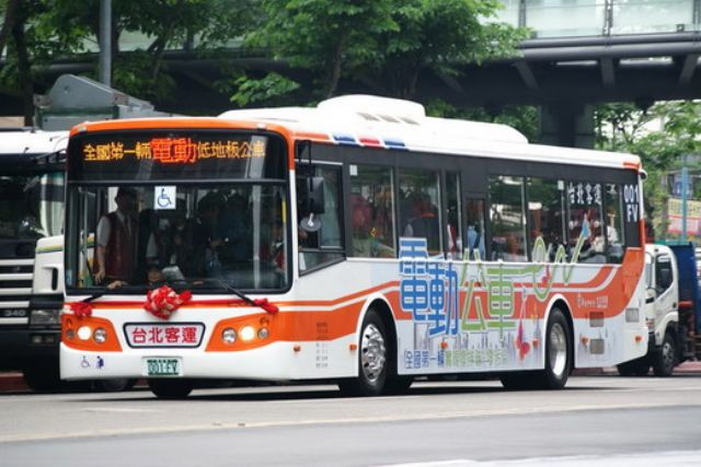 Many major cities in Taiwan have adopted pure-electric and hybrid buses.