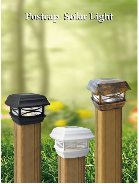The Solar Postcap Light addresses concerns about eco-friendliness and environmentally harmonized garden decoration.