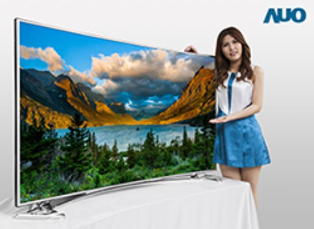 Market research firm WitsView forecasts large-sized panel prices to continue rising in July. (photo of a 4K curved TV panel developed by AUO)