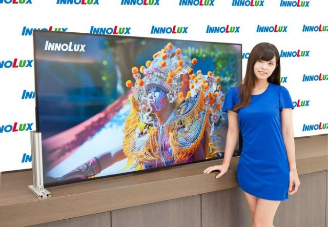 A high-end 3D 4K2K TV panel by Innolux, a major TFT-LCD panel maker in Taiwan. (photo from company website)