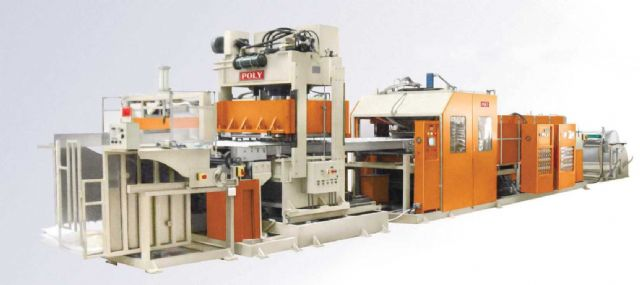 Poly Machinery's laminating machine for flexible food packing materials.