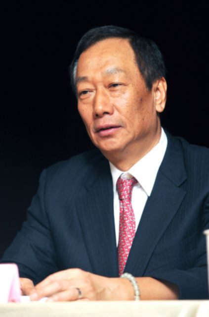 Hon Hai's chairman Terry Guo (photo from UDN)