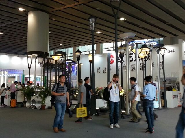 Chinese lighting exhibitors have steadily grown in number at the exhibition.