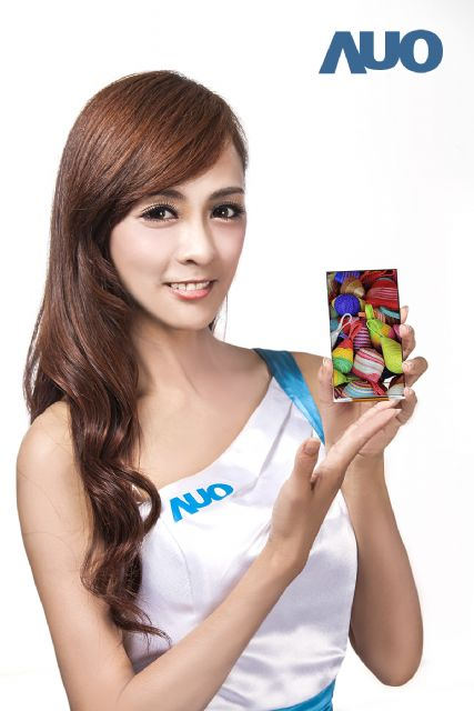 AUO debuts its 5-inch Full HD smartphone panel with a-Si technology.