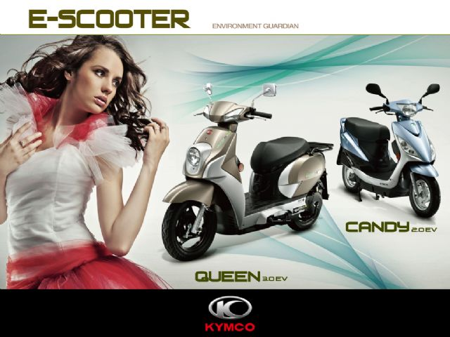 Some e-scooter makers in Taiwan will soon launch higher-performance models to woo customers. (Photo from KYMCO)