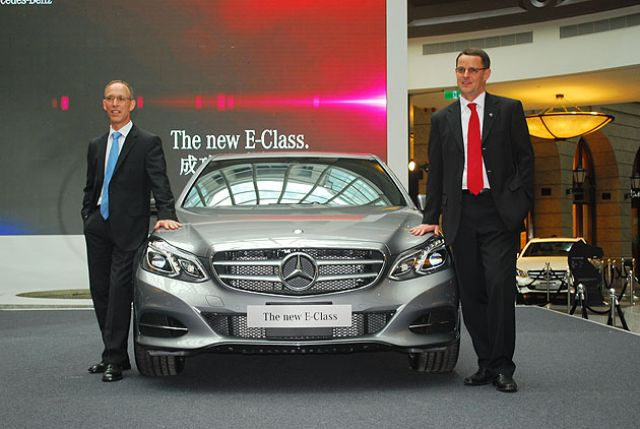 Eckart Mayer, president & CEO of Mercedes-Benz Taiwan. Mercedes-Benz was the top brand in Taiwan's imported luxury-car segment for the fifth consecutive year in 2013 and is expected to extend its reign this year. (Photo from UDN)