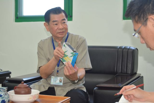 Chen Ming-der, chairman of Chang Hong, which aims to become a leading maker of LFPO power cells. (Photo from CENS)