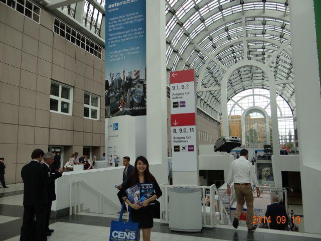 CENS' representatives at Automechanika Frankfurt 2014 held September 16-20.