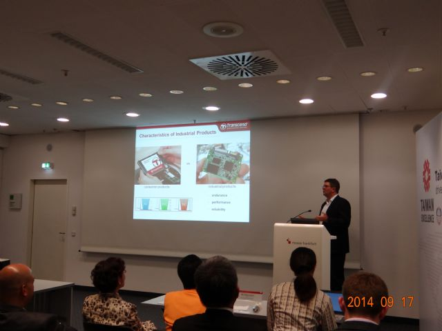 Presentations for winners of Taiwan Excellence Award in Hall 4.C on the second day.