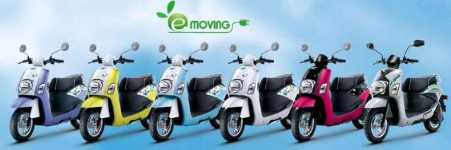 In the first eight months of 2014, CMC's e-scooters won market share of over 80% in Taiwan. (photo from company's website)