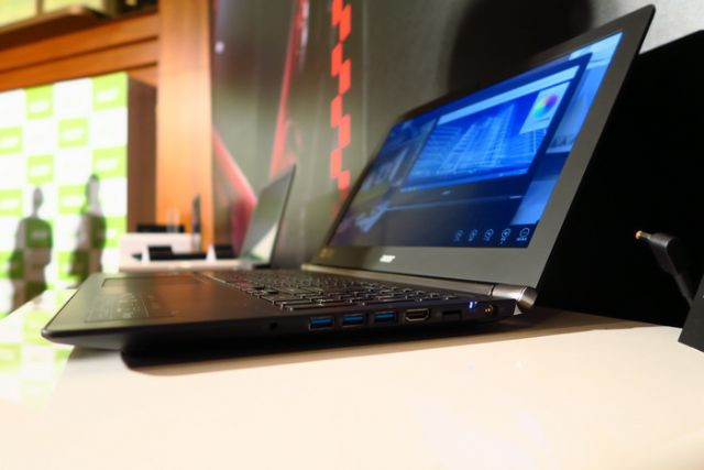 Acer's latest Aspire V Nitro series large-screen notebook PC. (photo from UDN)