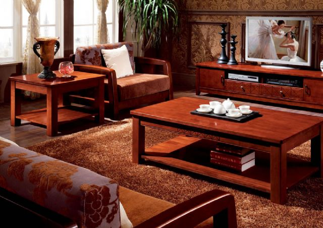 Wooden coffee tables developed by Qixin go well with the luxurious wooden living room sets favored by upmarket consumers.
