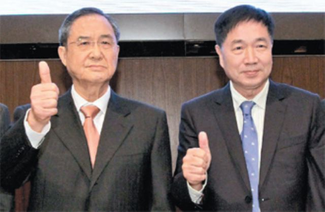 PBF chairman C.M. Lin (left) and president Michael Chiang. (photo courtesy UDN)