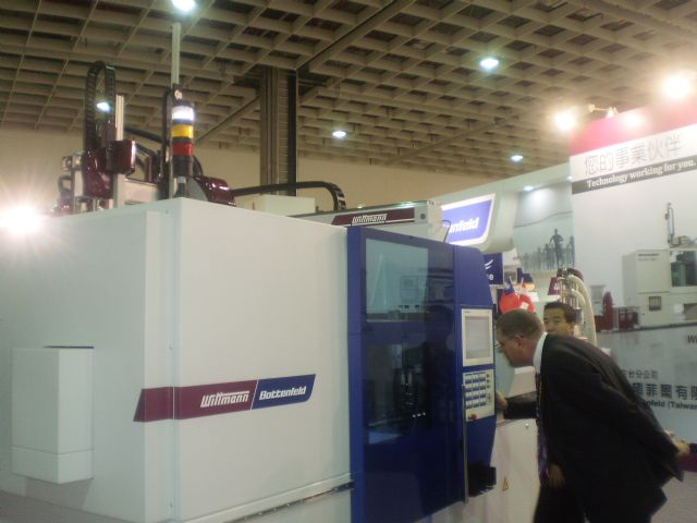 Wittmann Bottenfeld's EcoPower 110/350 B6P all-electric plastic injection molding machine.