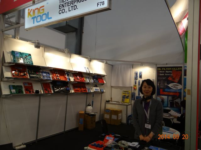 Kingtool export manager Jaymie Chiang noted increased buyer demand for auto repair tools at this year's Automechanika Frankfurt.