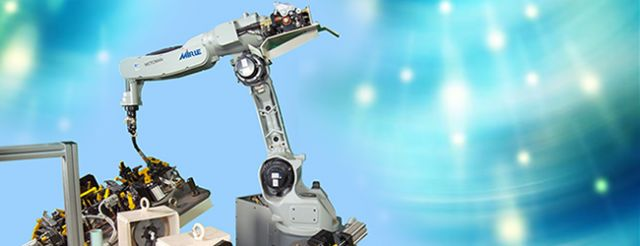 A robotic arc welding system made by Mirle. (photo from Mirle's website)