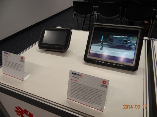 Advantech's GPS-supported Onboard PCs were displayed at a German trade fair in mid-September.