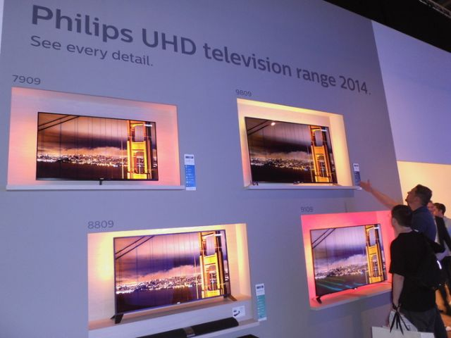 TPV is scheduled to launch the Philips 65-inch 4K TV models in Taiwan soon. (photo from UDN)