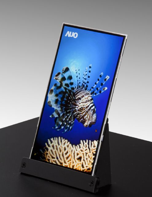 A high-end smartphone panel produced by AUO, the second-largest maker of TFT-LCDs in Taiwan (Photo from AUO)