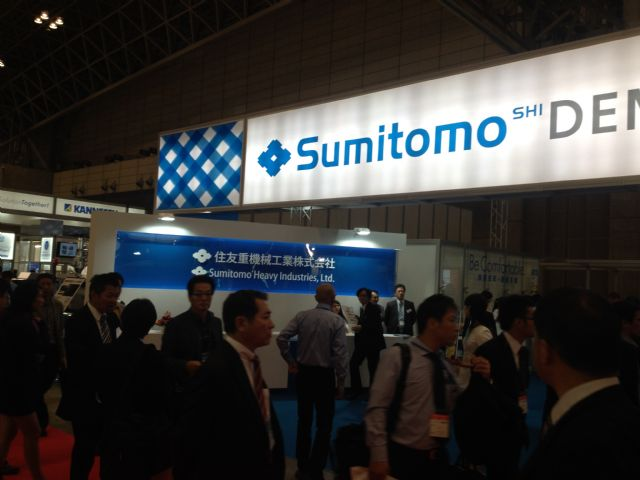 Sumitomo Heavy Industries attracted a constant influx of visitors interested in its machines and technology.