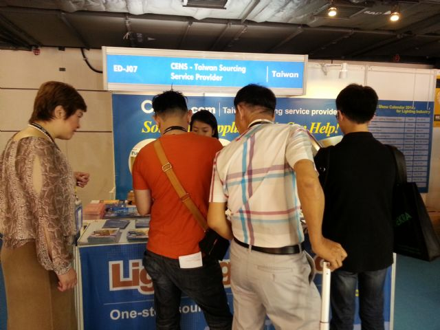 CENS booth attracts many visitors at HK Lighting Fair.