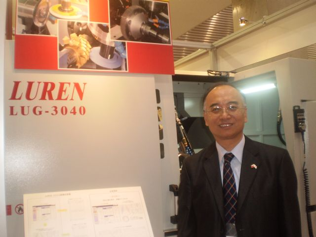Luren President Chuck Chen claims that the LUG-3040 CNC Universal Gear Tool Grinding Machine is world's first multifunctional gear tool grinding machine.
