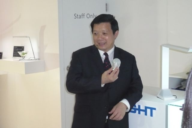 Yeh announces Everlight's five-year investment plan in Taiwan.