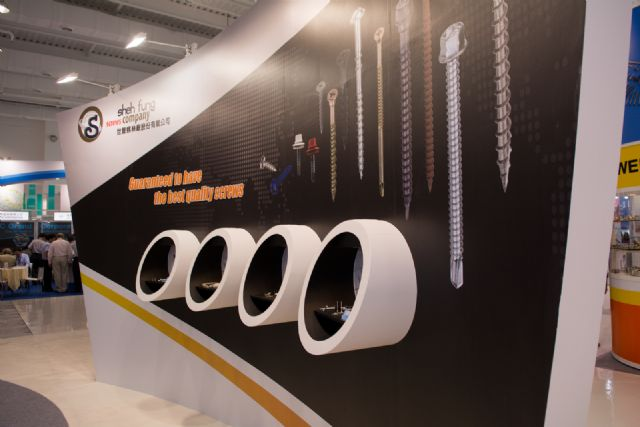 Sheh Fung showcases various screws for construction.
