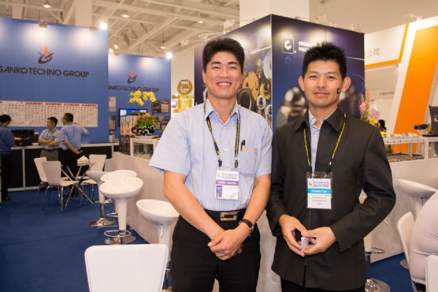 Chong Cheng's vice president of production, Jason Yu (left), and sales manager, Kenny Hsu