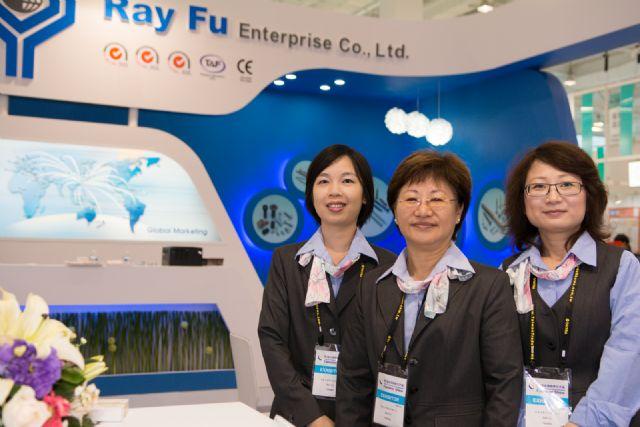Ray Fu's vice president, Amy Yu (center), lauds TIFS 2014.