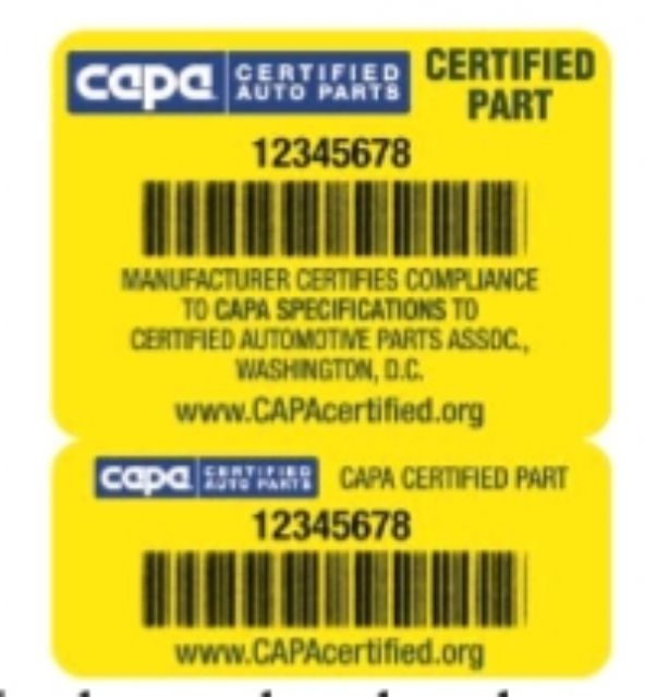 Caption 2: CAPA claims that the CAPA Seal remains the key to protecting consumers from poor quality and potentially unsafe parts. (Photo from CAPA)