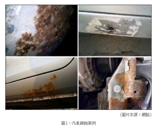 Types of vehicular corrosion tests. (photo from ARTC).