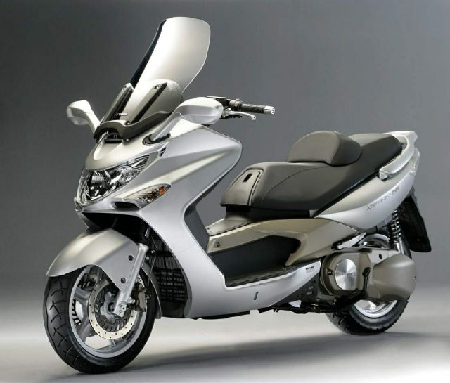 A motorscooter by KYMCO, leader of PTW sales in Taiwan for 15 years straight.