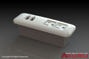 Axuru's USB-integrated, NEMA 5-15 desktop power strip is perfect for charging iPad, iPhone safely and reliably.