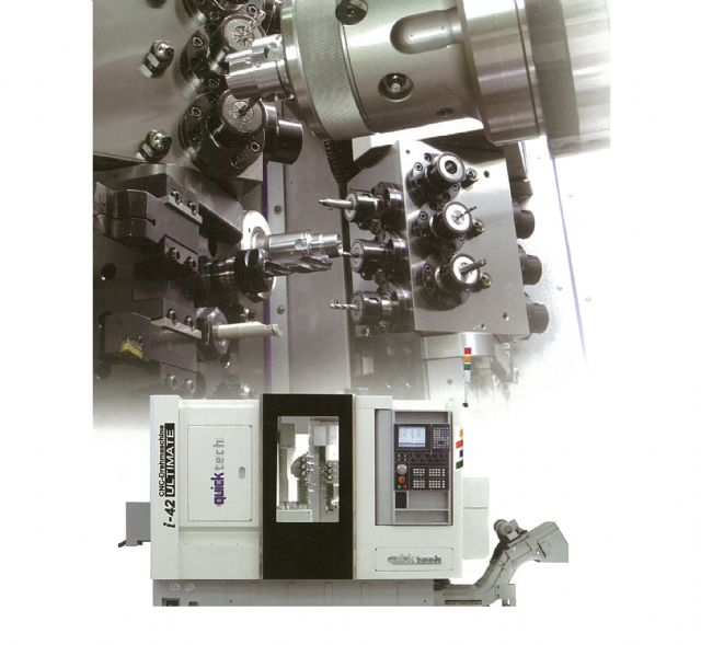 The i-42 Ultimate runs dual processing programs at one time not to mention running dual spindle systems for lathing and milling sophisticated workpieces.