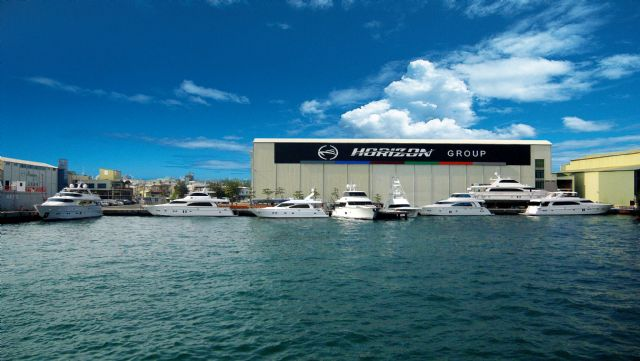 Horizon is Taiwan's leading yacht maker (the firm's yacht delivery center in Kaohsiung).