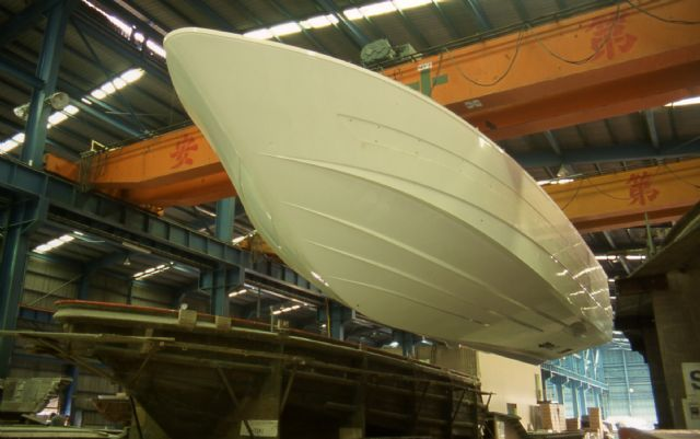Hull production using FRP