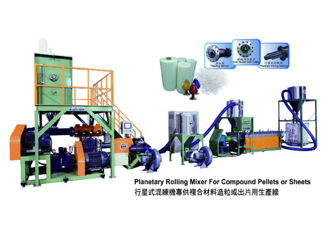 The Planetary Rolling Mixer is Yean Horng's newest product that meets trends for high performance and low requirements for manpower and energy consumption.