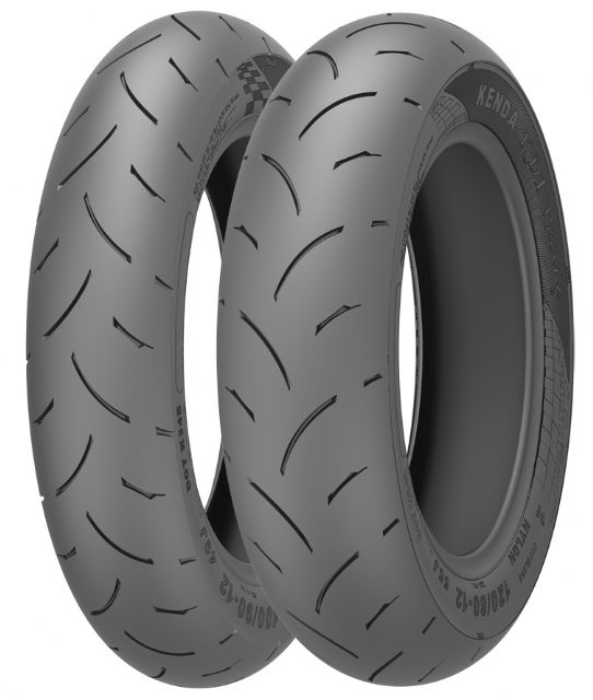 Tires made by Kenda, which is scheduled to soon start mass production of motorcycle and bicycle tires at its Indonesian factory in June or July 2015. (photo from Kenda)