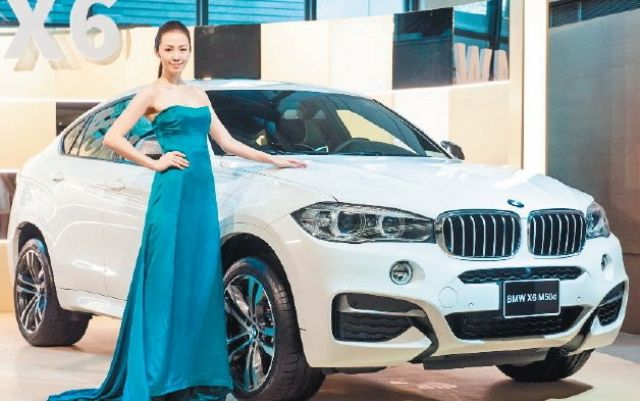 Pan German's  recently-unveiled, restyled BMW X6 SUV in Taiwan. (photo from UDN)