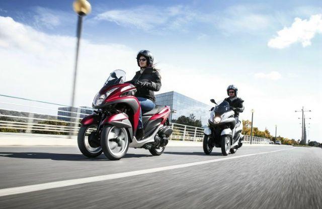 Yamaha Tricity aims at urban commuting market. (Photo from Yamaha)