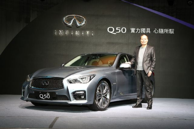 Tsai Wen-rong, president of Yulon Nissan, agent in Taiwan of Nissan and Infiniti and 2014's No.2 auto vendor in Taiwan by sales volume. (photo from UDN)