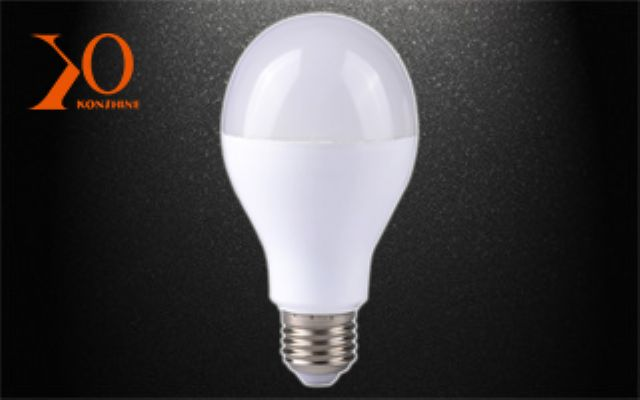 A sample LED bulb from Xiamen KONSHINE.